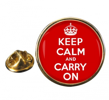 Keep Calm and Carry On Round Pin Badge