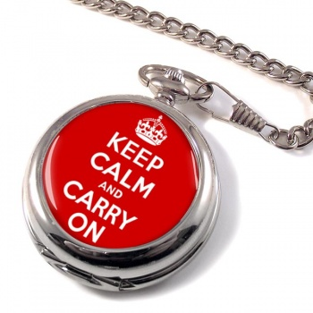 Keep Calm and Carry On Pocket Watch