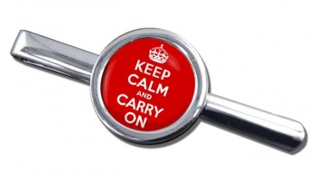 Keep Calm and Carry On Round Tie Clip