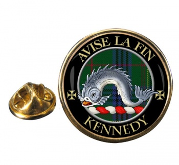 Kennedy Scottish Clan Round Pin Badge