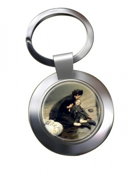 Homeless by Eric Kennington Chrome Key Ring