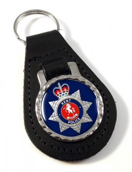 Kent Police Leather Key Fob