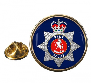 Kent Police Round Pin Badge
