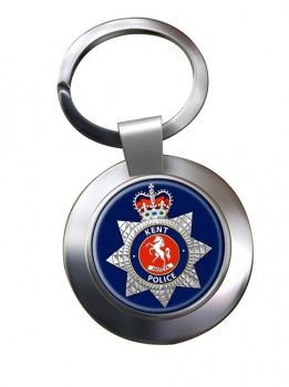 Kent Police Chrome Key Ring