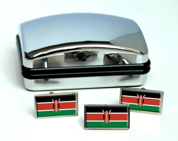 Kenya Flag Cufflink and Tie Pin Set