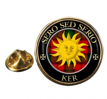 Ker Scottish Clan Round Pin Badge