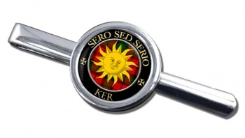 Ker Scottish Clan Round Tie Clip