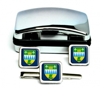 County Kerry (Ireland) Square Cufflink and Tie Clip Set