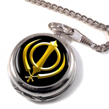 Khanda relief Pocket Watch