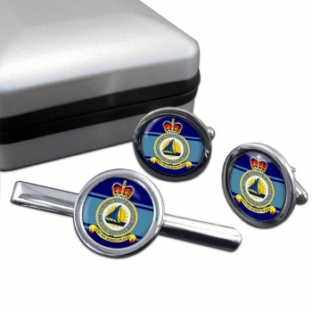 Khormaksar Round Cufflink and Tie Clip Set