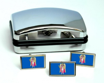 Kiev  Flag Cufflink and Tie Pin Set