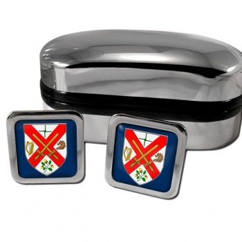 County Kildare Ireland Square Cufflinks