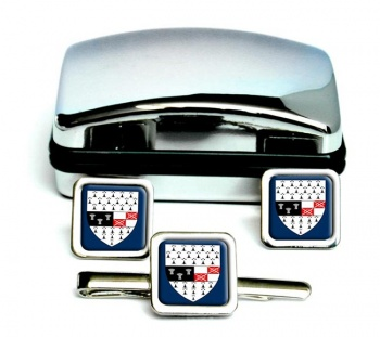 County Kilkenny (Ireland) Square Cufflink and Tie Clip Set