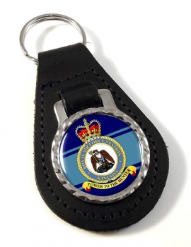 RAF Station Kinloss Leather Key Fob
