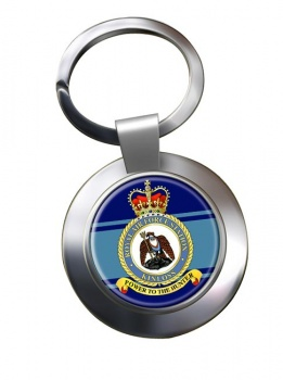 RAF Station Kinloss Chrome Key Ring