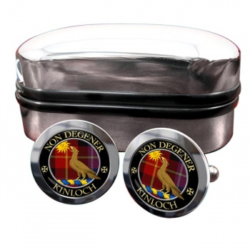 Kinloch Scottish Clan Round Cufflinks