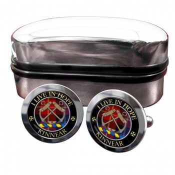 Kinnear Scottish Clan Round Cufflinks