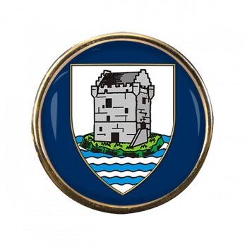 Kinross-shire (Scotland) Round Pin Badge