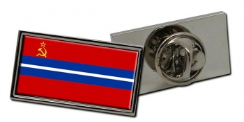 Kirghiz Soviet  Flag Pin Badge