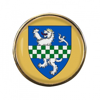 Kirkcudbrightshire (Scotland) Round Pin Badge