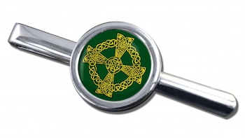 Celtic knot cross Round Tie Clip