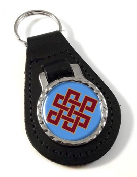 Endless Knot of Eternity Leather Keyfob