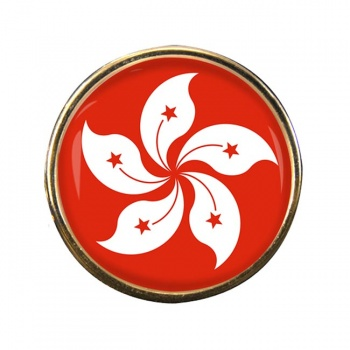 Hong Kong Round Pin Badge