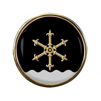 Kouvola Round Pin Badge