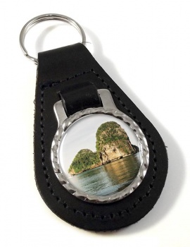 Krabi Thailand Leather Key Fob