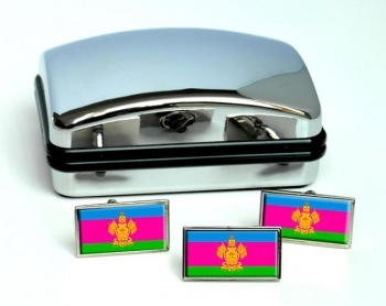 Krasnodar Krai Flag Cufflink and Tie Pin Set