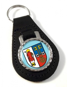 Krefeld (Germany) Leather Key Fob