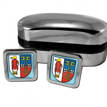 Krefeld Germany Square Cufflinks