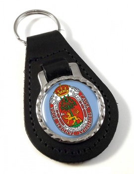 Kristiansand (Norway) Leather Key Fob