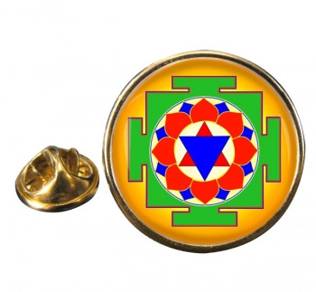 Krishna Yantra Round Pin Badge
