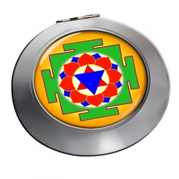 Krishna Yantra Chrome Mirror