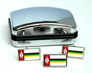 KwaZulu (South Africa) Flag Cufflink and Tie Pin Set