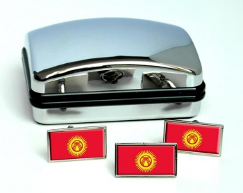 Kyrgyzstan  Flag Cufflink and Tie Pin Set