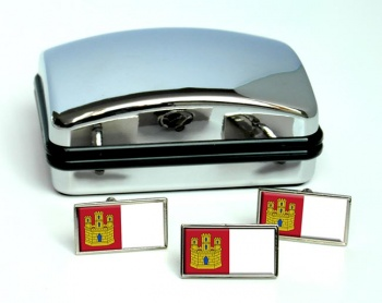 Castilla-La Mancha (Spain) Flag Cufflink and Tie Pin Set