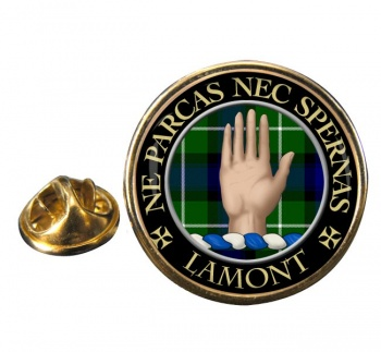 Lamont Scottish Clan Round Pin Badge