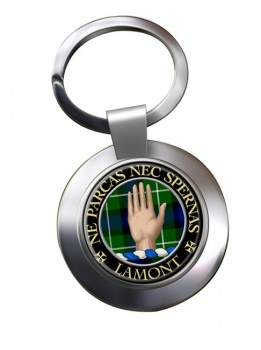 Lamont Scottish Clan Chrome Key Ring