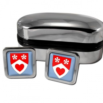Lanarkshire Scotland Square Cufflinks