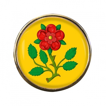 Lancashire Rose Round Pin Badge