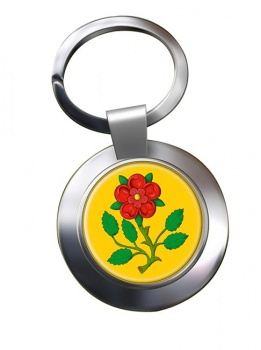 Lancashire Rose Metal Key Ring