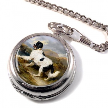 Lion a Newfoundland Dog by Landseer Pocket Watch