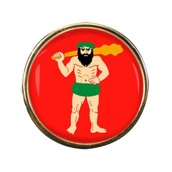 Lapland Round Pin Badge