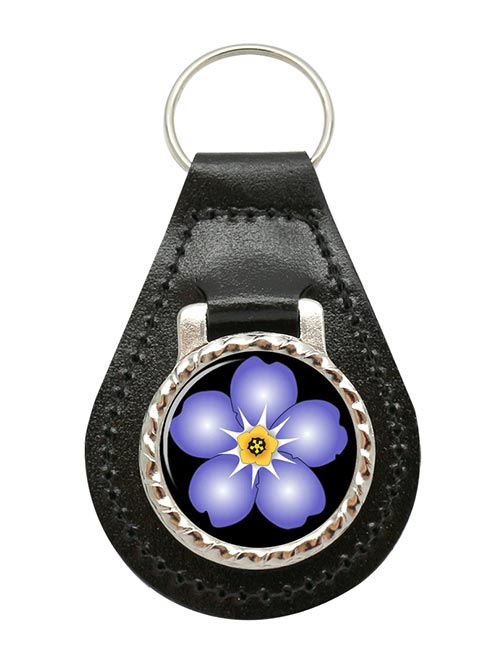 Forget-me-not Leather Key Fob