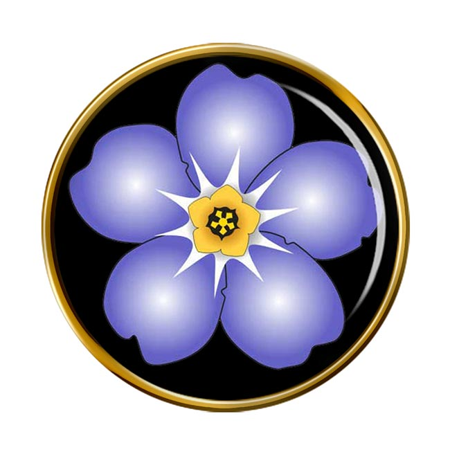 Forget-me-not Round Pin Badge
