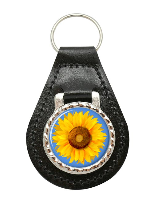 Sunflower Leather Key Fob