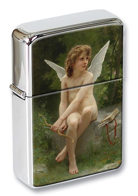 Love on the Lookout by Bouguereau Flip Top Lighter
