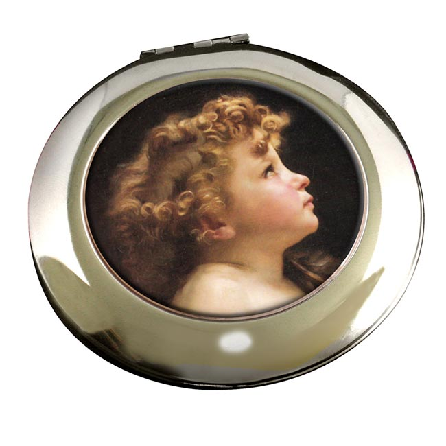 Young John the Baptist by Bouguereau Round Mirror